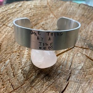 'One thing at a time' large cuff bracelet